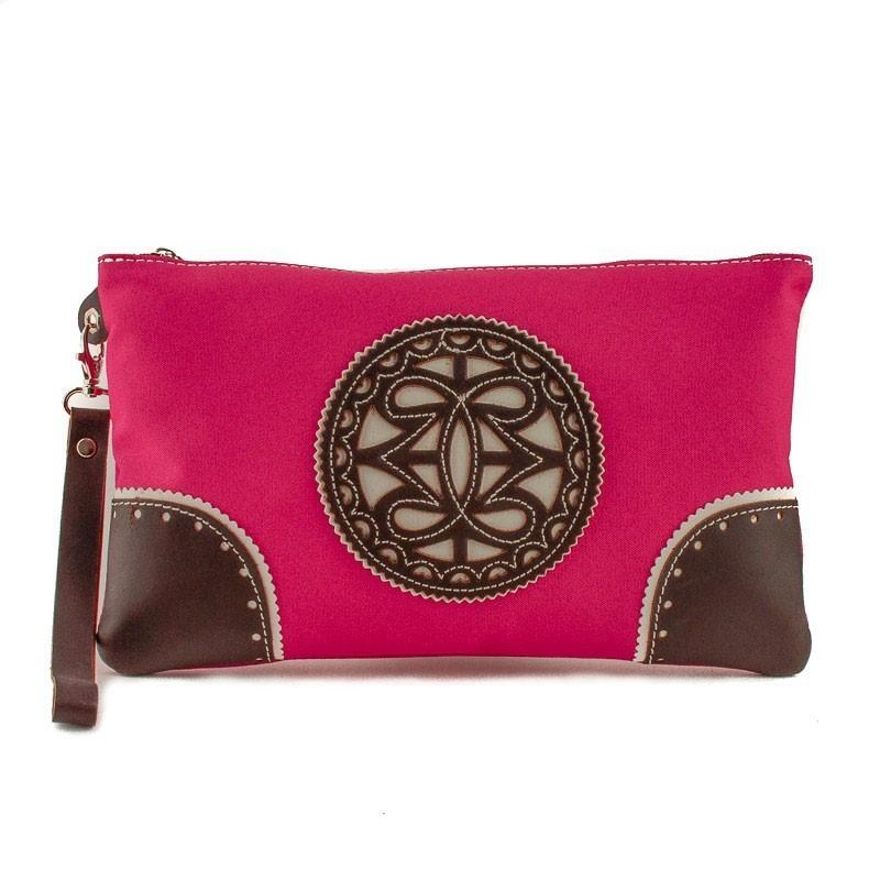 sac main en tissu avec garniture en cuir. Black Bedroom Furniture Sets. Home Design Ideas
