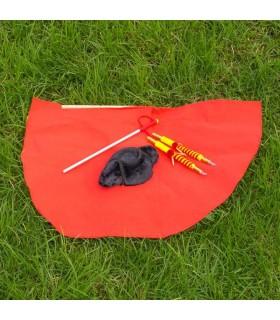 Pack muleta niño con banderillas y montera.
