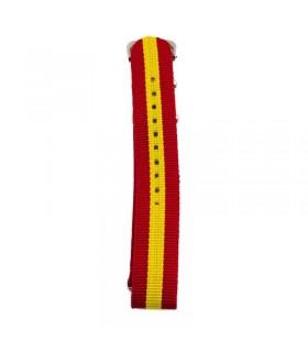 Reloj de cuarzo con pulsera de bandera de España