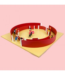 60 cm toy bullring with alley
