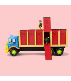 Camion jouet taurin avec 6 cages pour taureaux