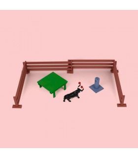 Juguete taurino conjunto con toro embolado