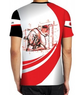 Camiseta deportiva Toro negro saliendo de toriles  - 2
