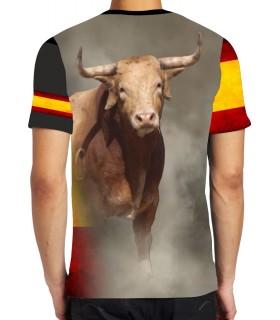 Camiseta con Toro negro y bandera de España  - 2