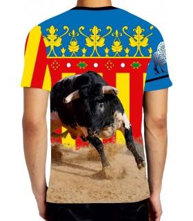 Camiseta taurina con virgen y Señera