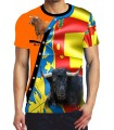 Bullfighting T-Shirt with Bull and Señera