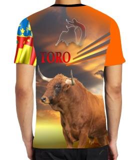 Camiseta taurina con toro y Señera