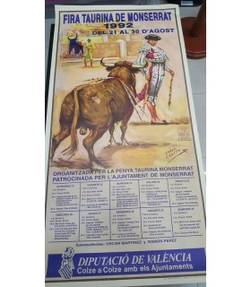 Cartel Taurino Año 1992 Gráfica Ortega Montserrat