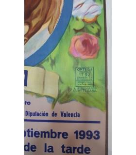 Cartel taurino Año 1993 Gráfica Ortega Enguera
