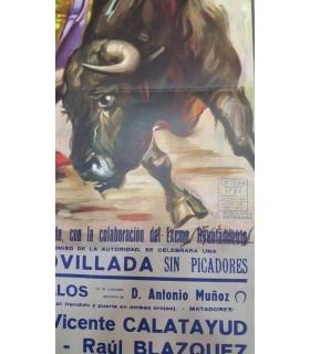Cartel taurino Año 1993 Gráfica Ortega Pobla del Duc