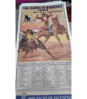 Cartel taurino Año 1993 Gráfica Ortega de Montserrat