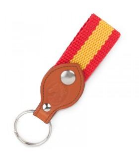 Porte-clés en cuir avec drapeau de l´Espagne