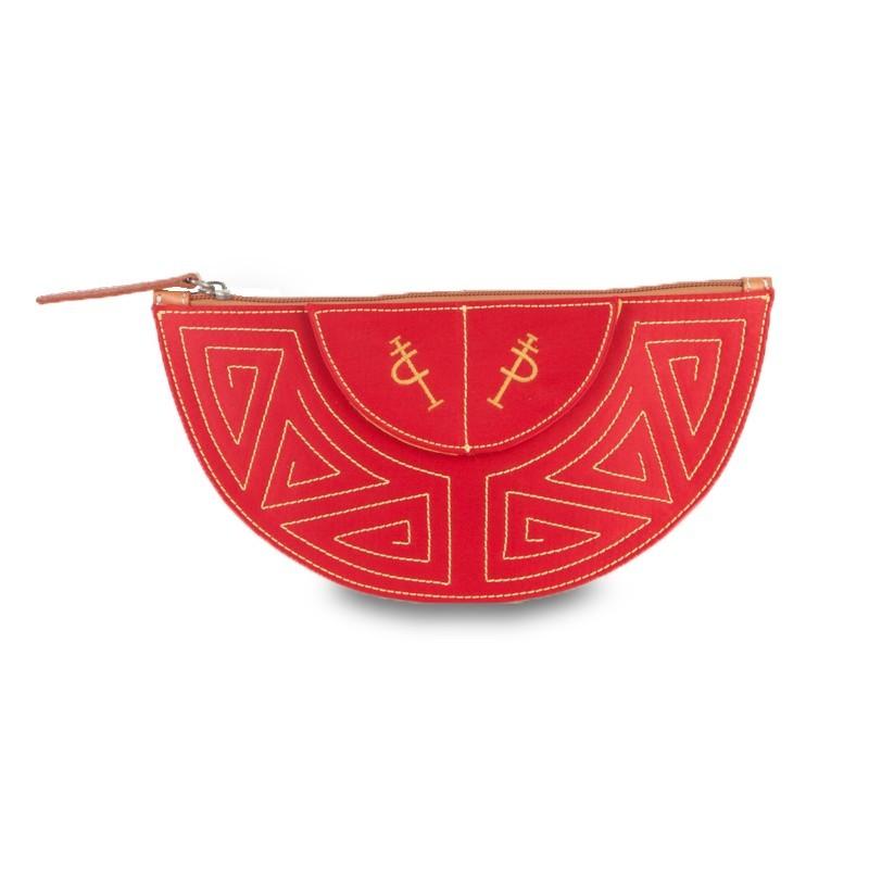 Bolso taurino de mano rojo colección