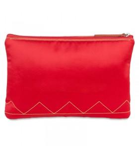 "Bolso taurino de mano rojo ""Pureza"", con esclavina bordada"