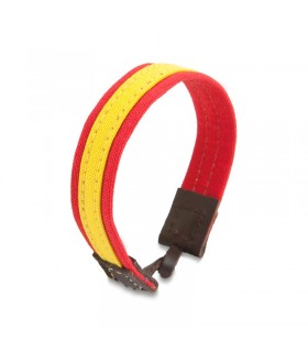 Bracelet with Spanish flag and leather closure  - 1