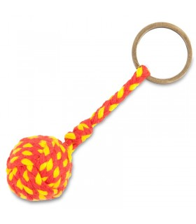 Porte-clés en corde tressée avec drapeau de l'Espagne