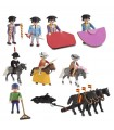 Pack de playmobil taurinos compuesto de corrida de toros completa