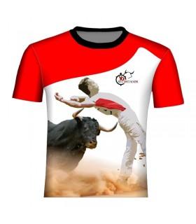 Chemise taurine blanc et rouge  - 1