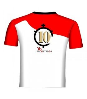 Chemise taurine blanc et rouge  - 2