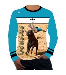 Chemise taurine à manches longues avec recortador en sautant taureau