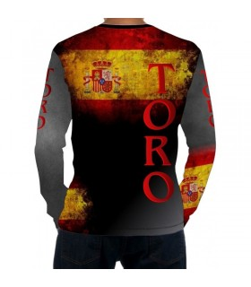 Chemise taurine à manches longues avec drapeau de l´Espagne