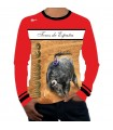 Long-sleeved bullfighter t-shirt with spanish bulls