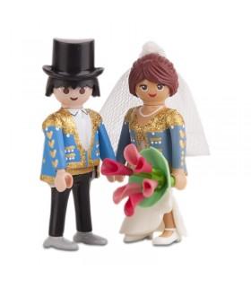 Pareja de novios click taurinos para tartas de boda