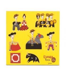 Puzzle con figuras taurinas de goma espuma