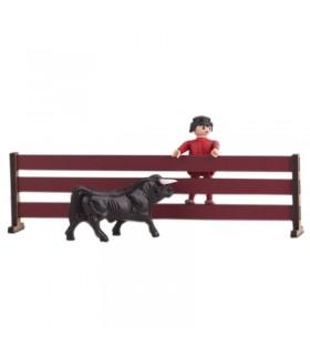 Juguete taurino talanquera para toros