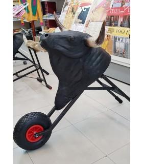 Nouveau Charette avec tête de taureau pour enfants de 7 à 12 ans.