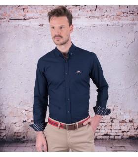 Camisa Azul marino de hombre marca La Española