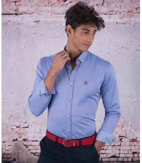 "Camisa masculina azul marca ""La Española"" modelo 54406"