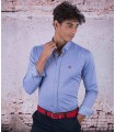 "Blue Men's Shirt Brand ""The Spanish"""