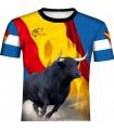 Chemise en taurine avec drapeau déchiré