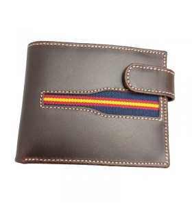 Portefeuille en cuir avec drapeau de l'Espagne  - 1