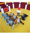 Mulillas de tres caballos para arrastre de toros escala playmobil
