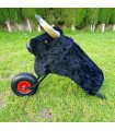 Children's bullfighting wagon with full body with hair