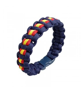 Blue bracelet with Spanish flag of Paracord  - 1