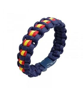 copy of Bracelet avec drapeau de l'Espagne et fermeture en cuir  - 1