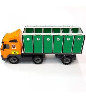 Camión verde para toros grandes