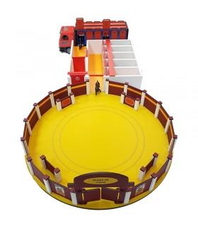 Conjunto de juguetes taurinos con plaza de toros, plaza de toros y camión de toros