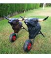 Taureau avec des roues très réalistes pour les enfants de 3 à 8 ans