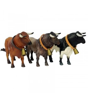 Toy bull manso with cowbell  - 1