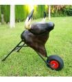 Toro con ruedas marrón para niños  de 7 a 12 años